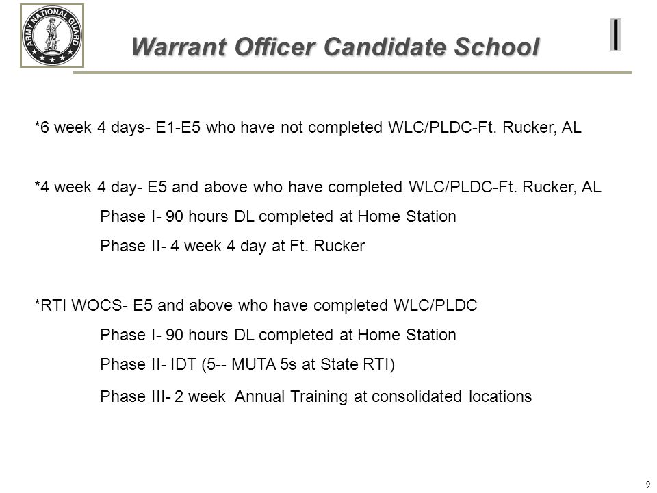Warrant Officer Candidate School