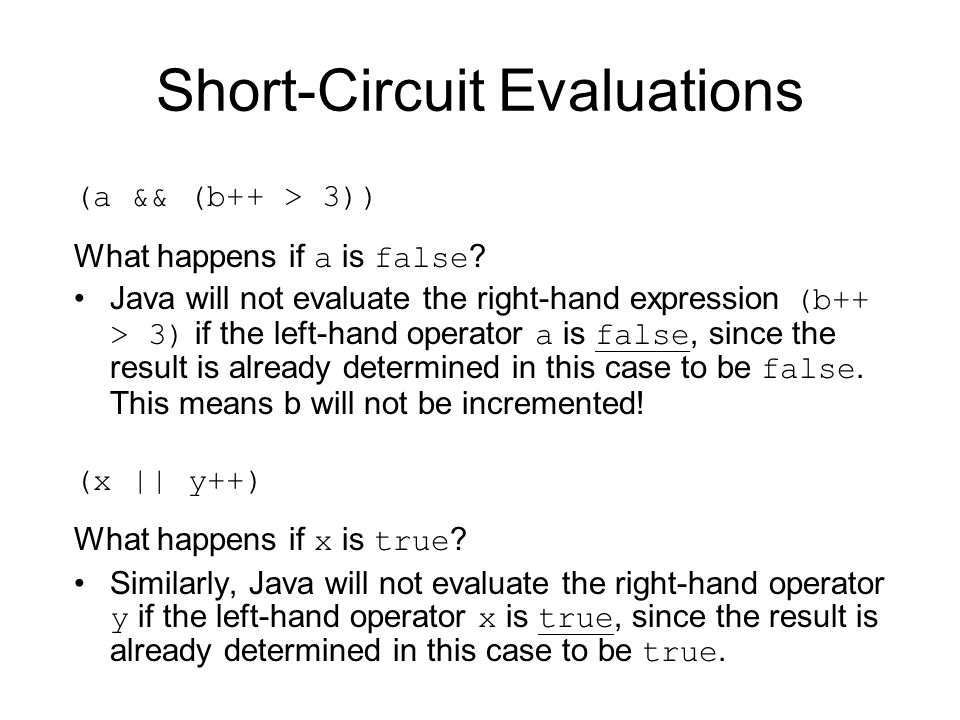 Short-Circuit Evaluations