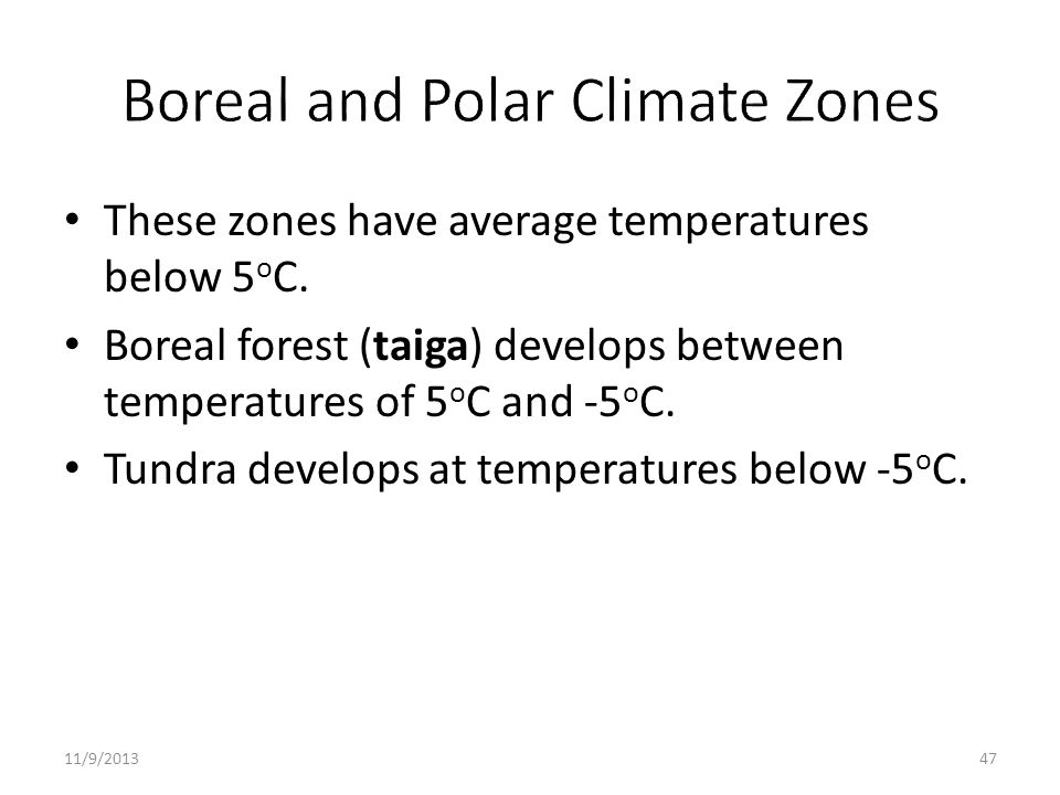 Boreal and Polar Climate Zones