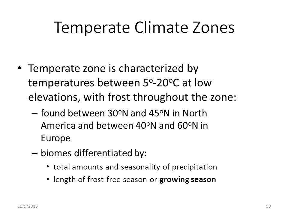 Temperate Climate Zones