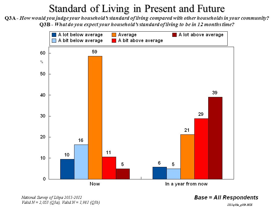 Standard of Living in Present and Future