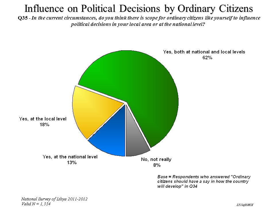 political decisions in your local area or at the national level