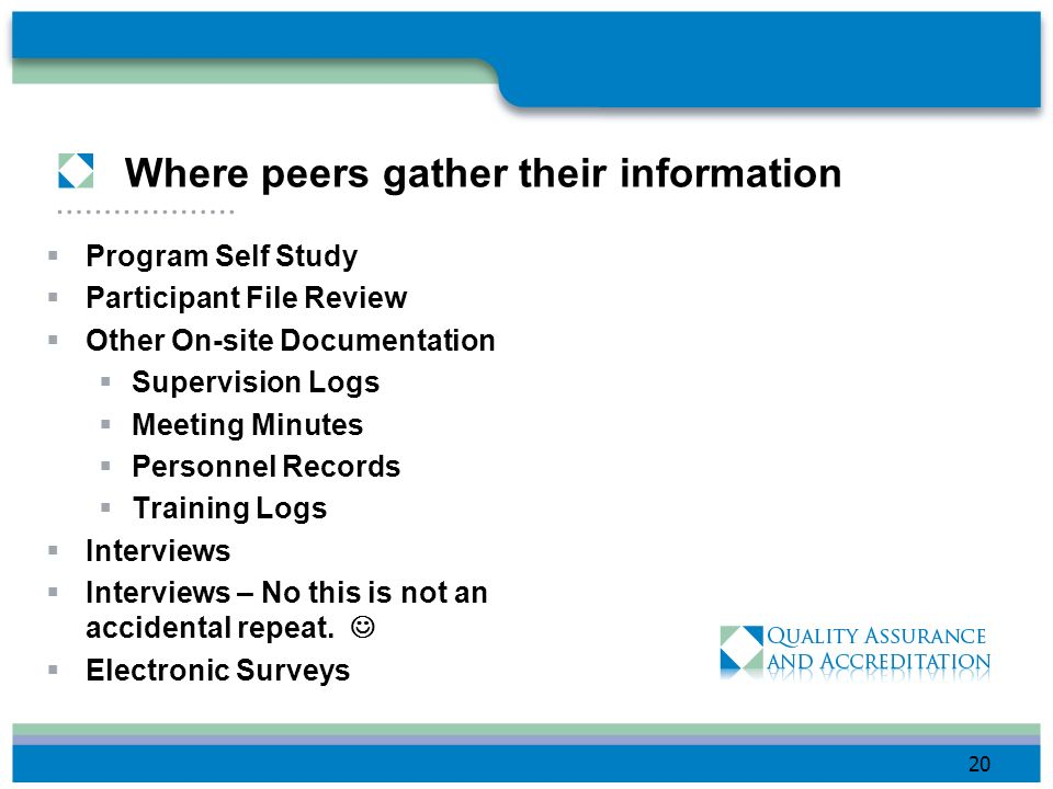 Where peers gather their information