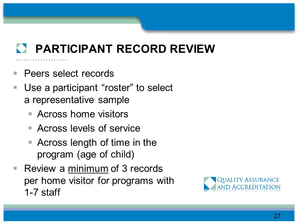 PARTICIPANT RECORD REVIEW