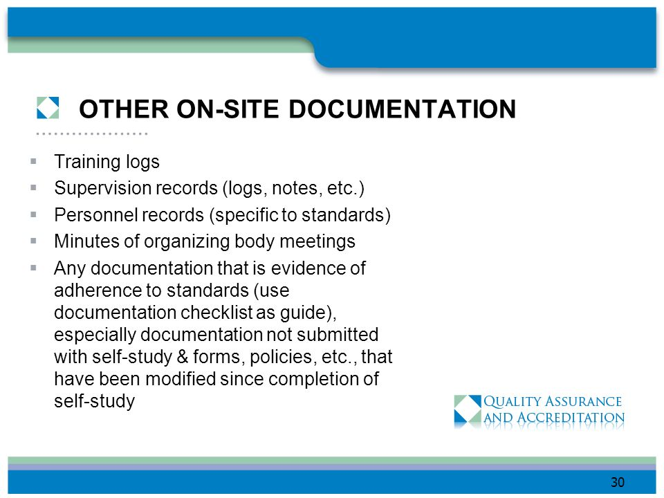 OTHER ON-SITE DOCUMENTATION