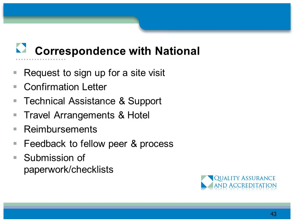 Correspondence with National