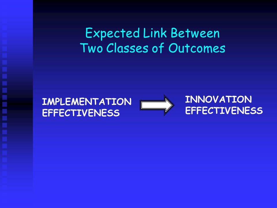 Expected Link Between Two Classes of Outcomes