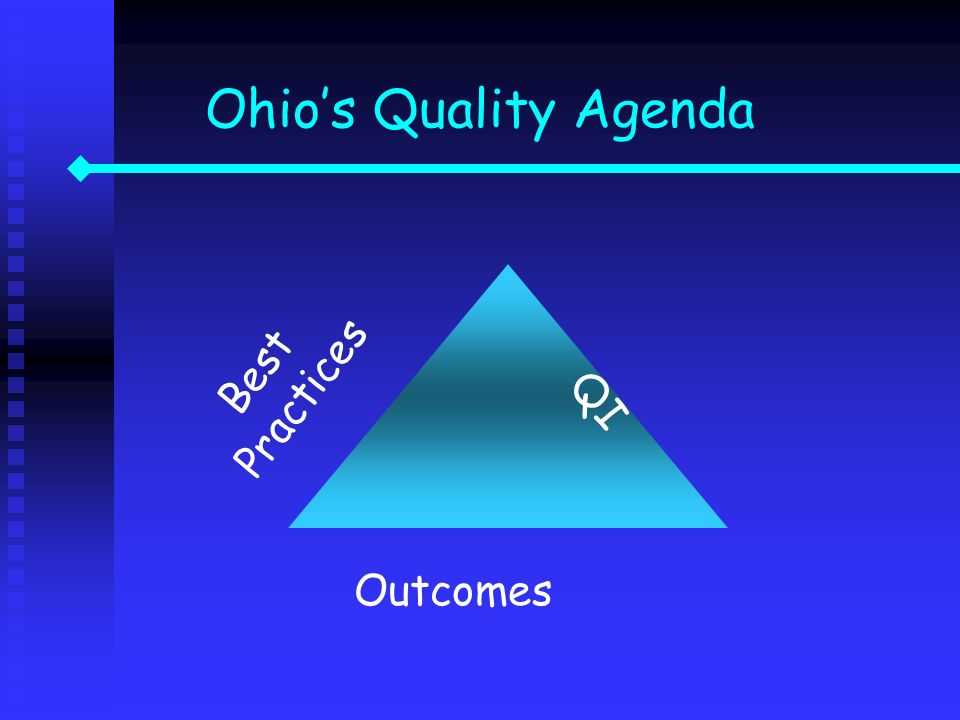 Ohio's Quality Agenda Best Practices QI Outcomes