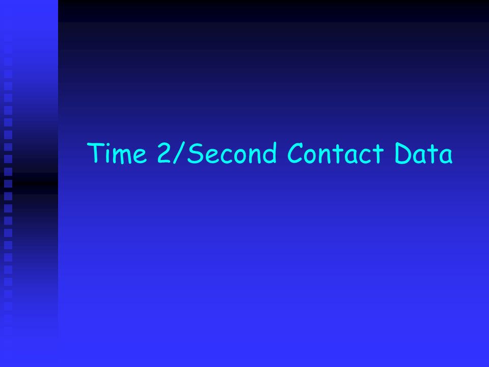 Time 2/Second Contact Data