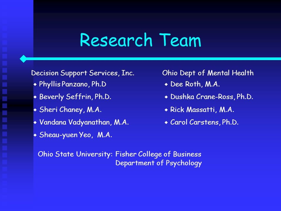 Research Team Ohio State University: Fisher College of Business