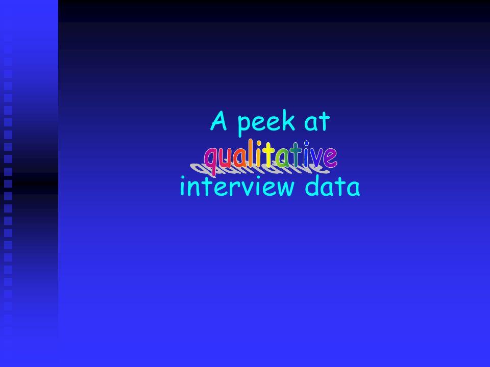A peek at interview data