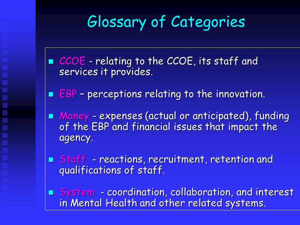 Glossary of Categories