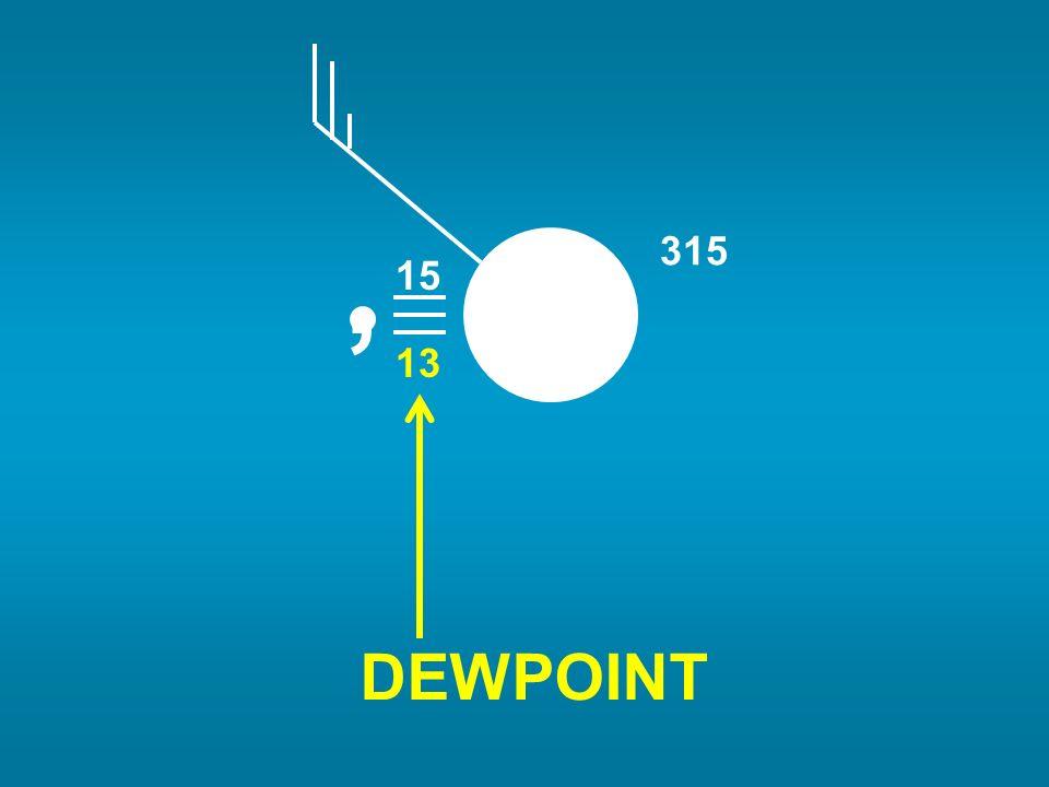 15 13 , 315 DEWPOINT