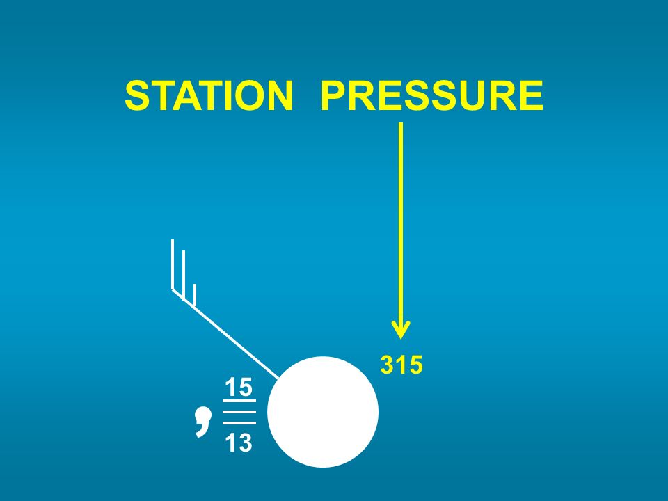 STATION PRESSURE 15 13 , 315