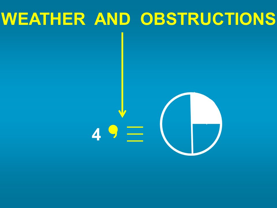 WEATHER AND OBSTRUCTIONS