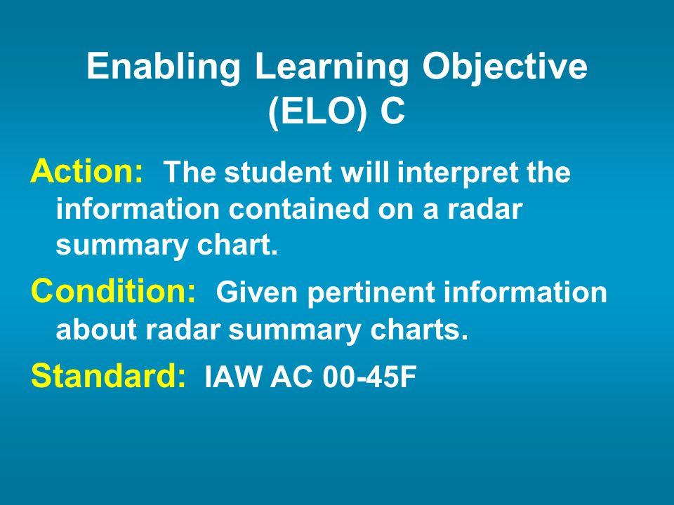 Enabling Learning Objective (ELO) C