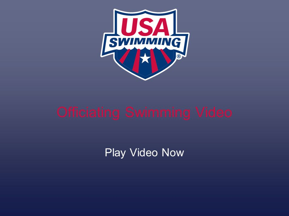 Officiating Swimming Video