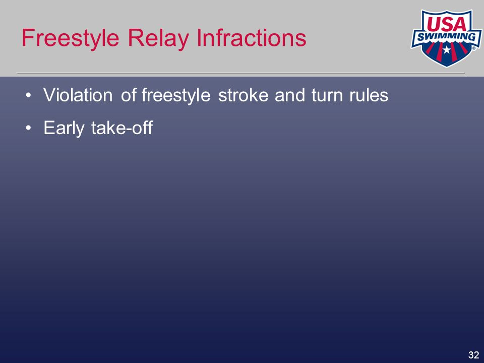 Freestyle Relay Infractions