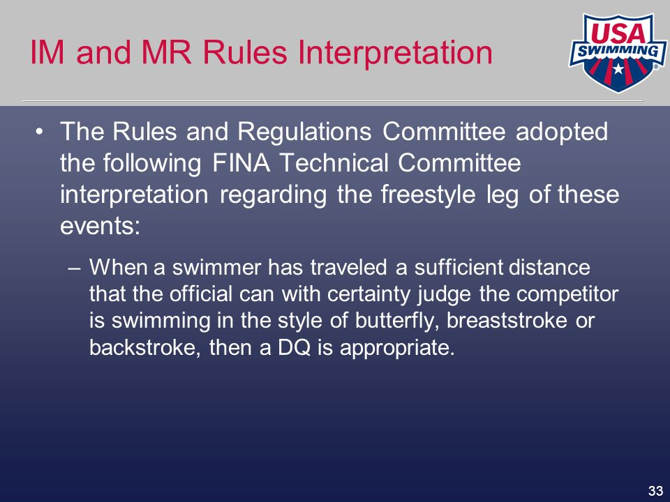 IM and MR Rules Interpretation