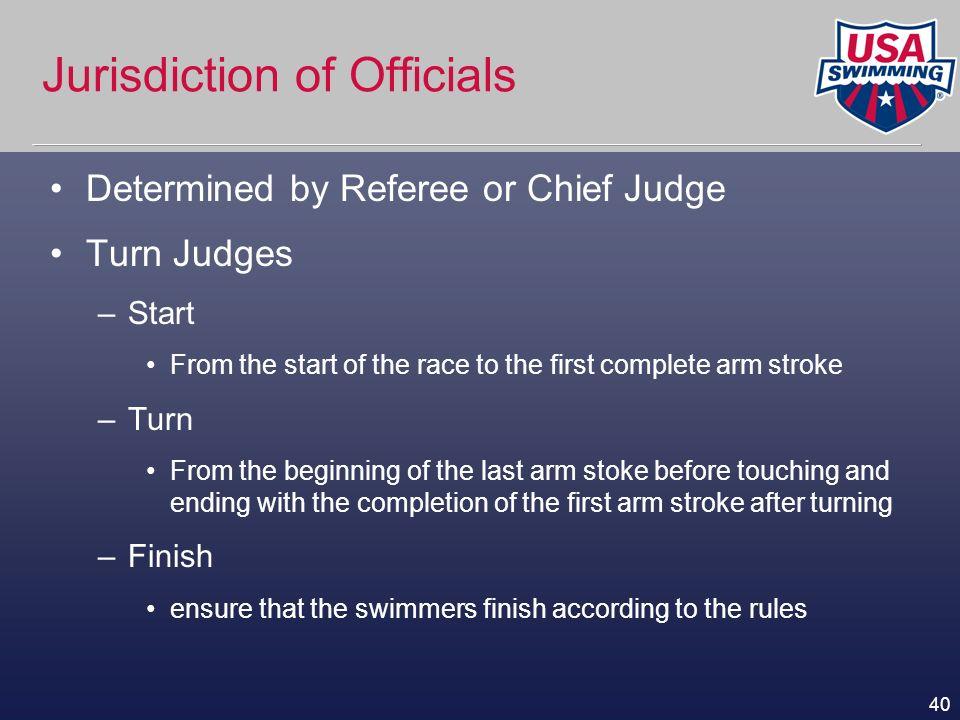 Jurisdiction of Officials
