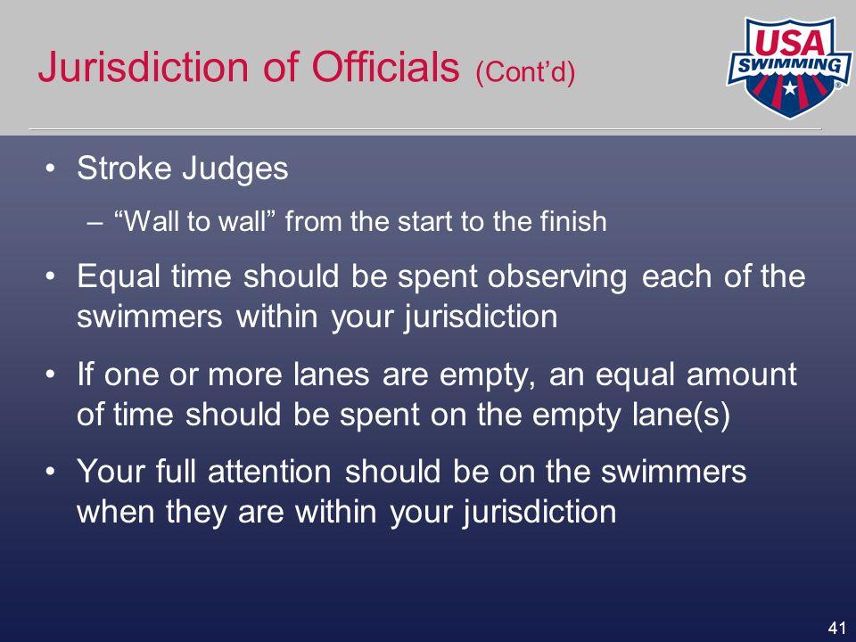 Jurisdiction of Officials (Cont'd)
