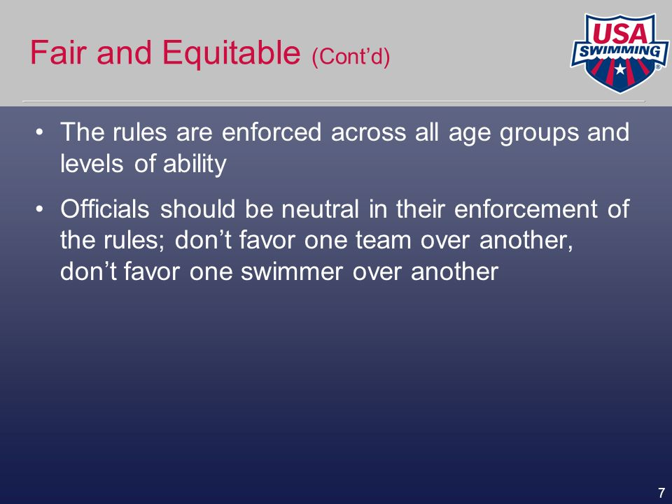 Fair and Equitable (Cont'd)