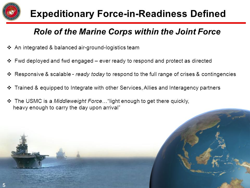 Expeditionary Force-in-Readiness Defined