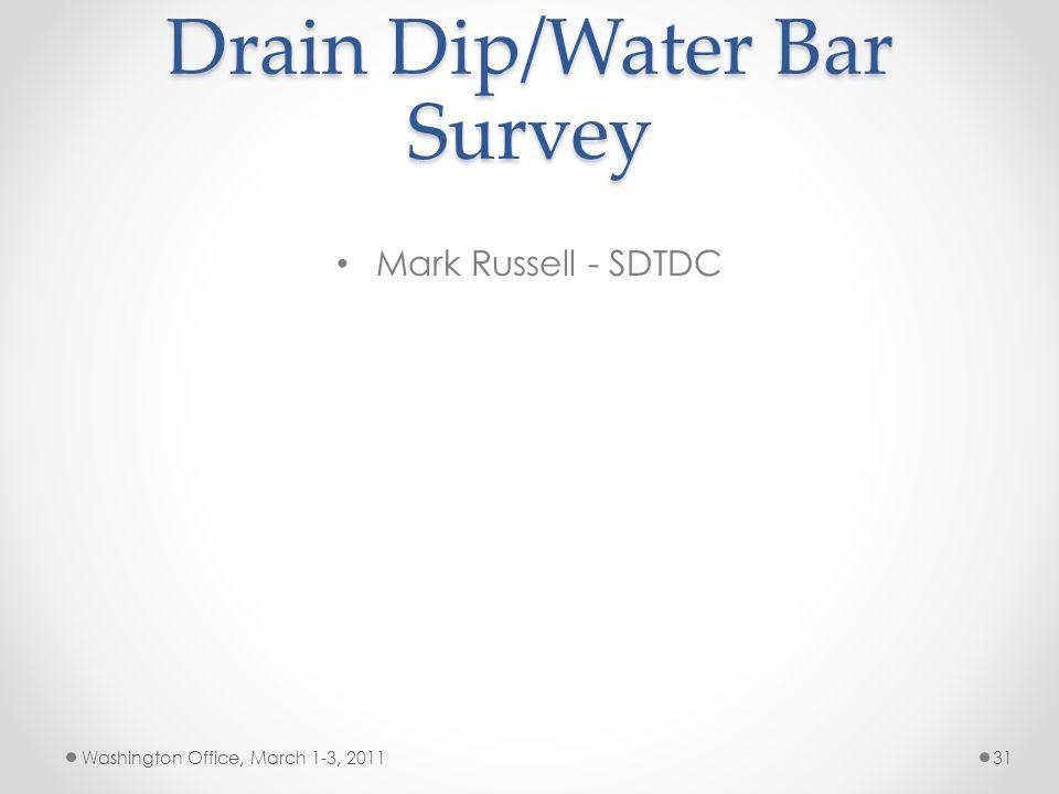 Drain Dip/Water Bar Survey