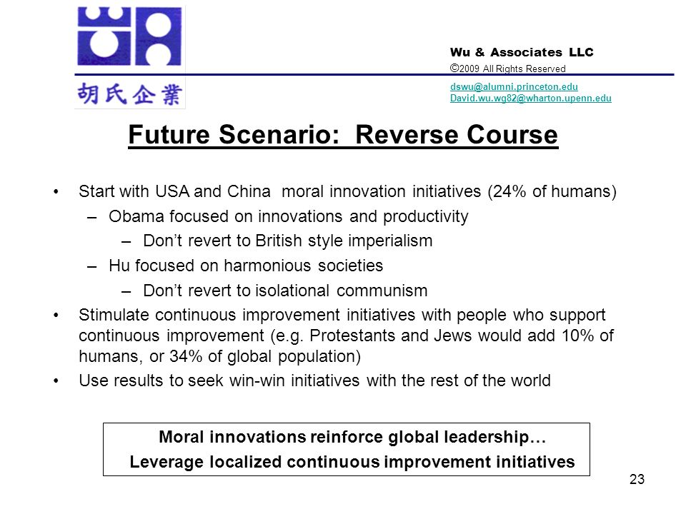 Future Scenario: Reverse Course