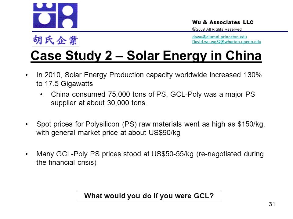 Case Study 2 – Solar Energy in China