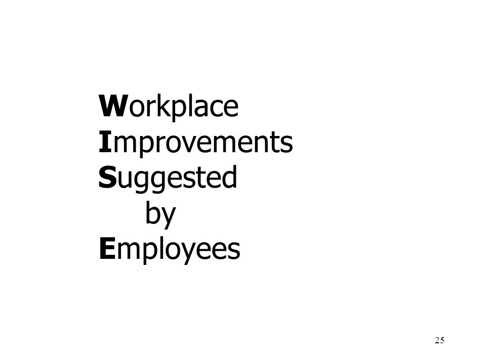Workplace Improvements Suggested by Employees