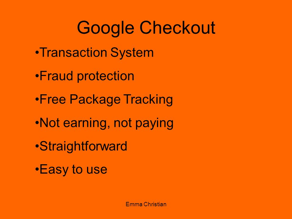 Google Checkout Transaction System Fraud protection
