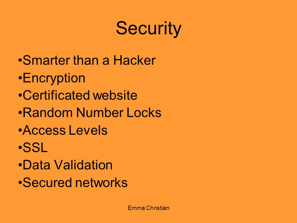 Security Smarter than a Hacker Encryption Certificated website