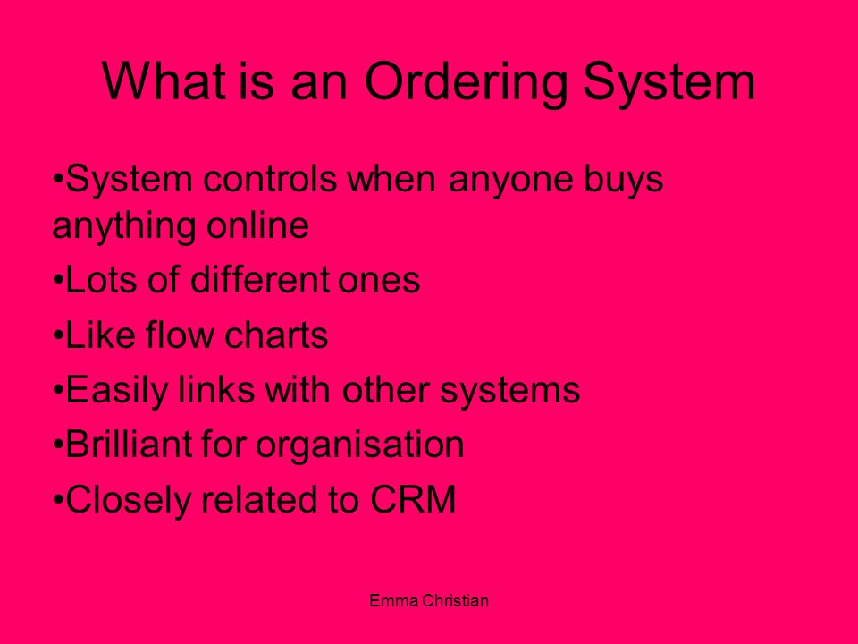 What is an Ordering System