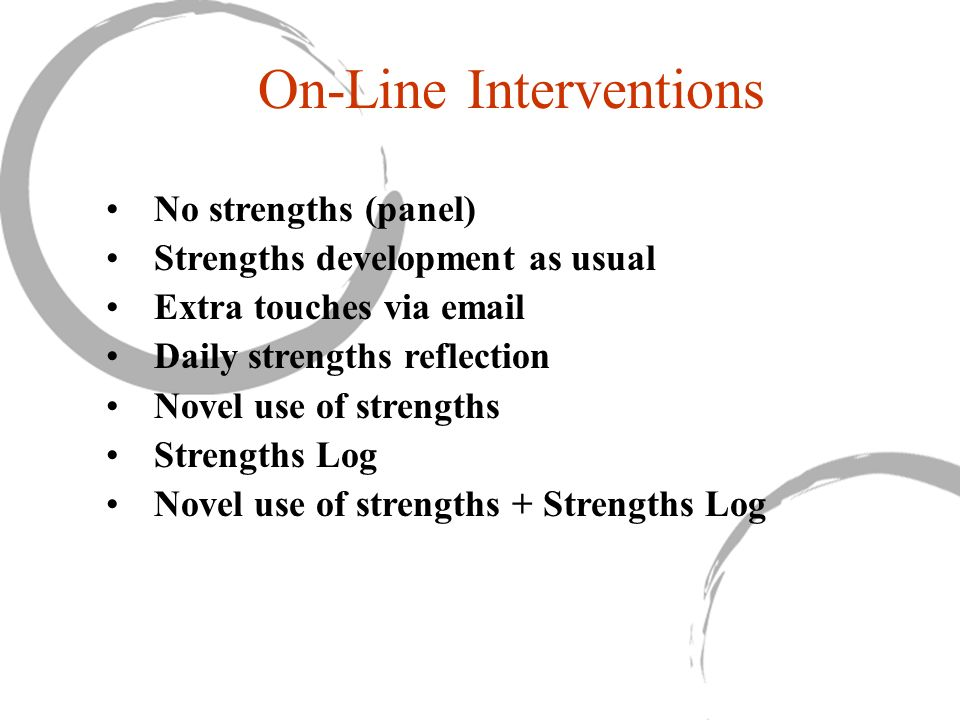On-Line Interventions