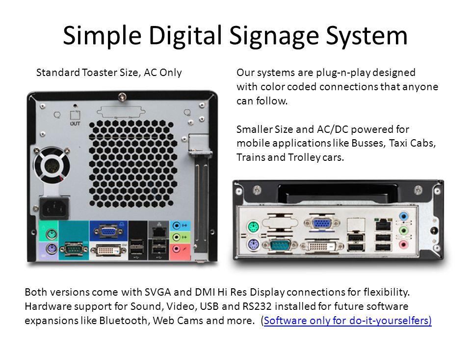 Simple Digital Signage System