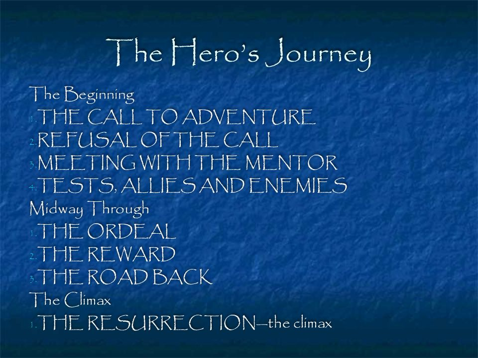 The Hero's Journey The Beginning THE CALL TO ADVENTURE
