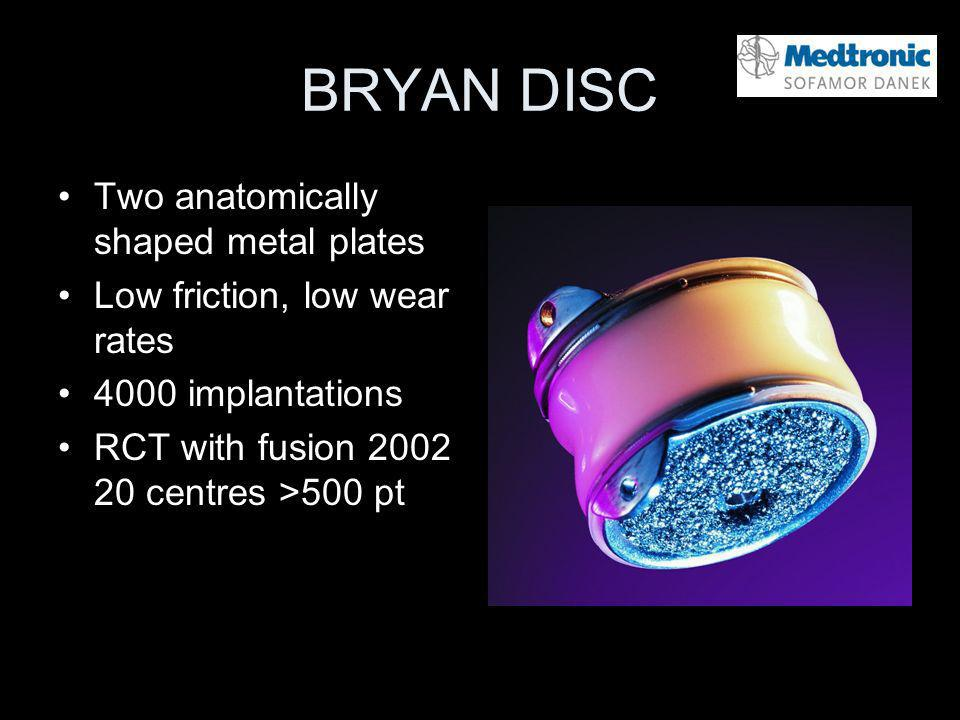 BRYAN DISC Two anatomically shaped metal plates