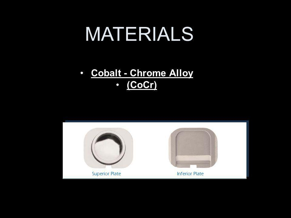 MATERIALS Cobalt - Chrome Alloy (CoCr)