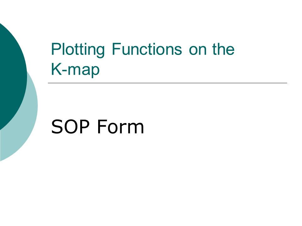 Plotting Functions on the K-map