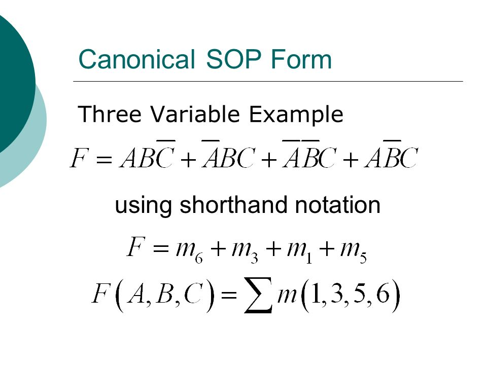 using shorthand notation