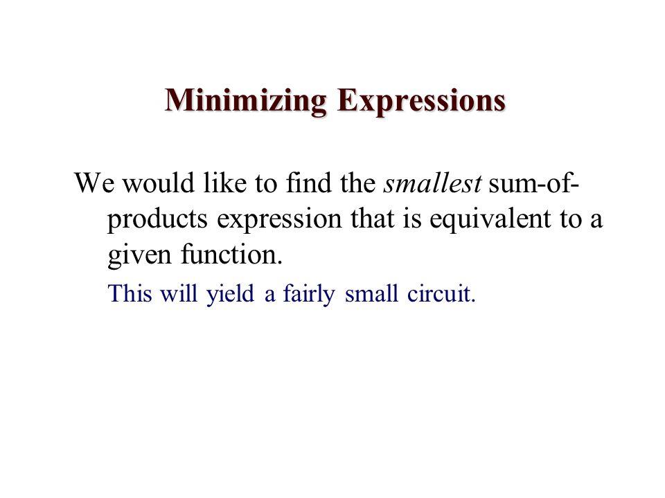 Minimizing Expressions