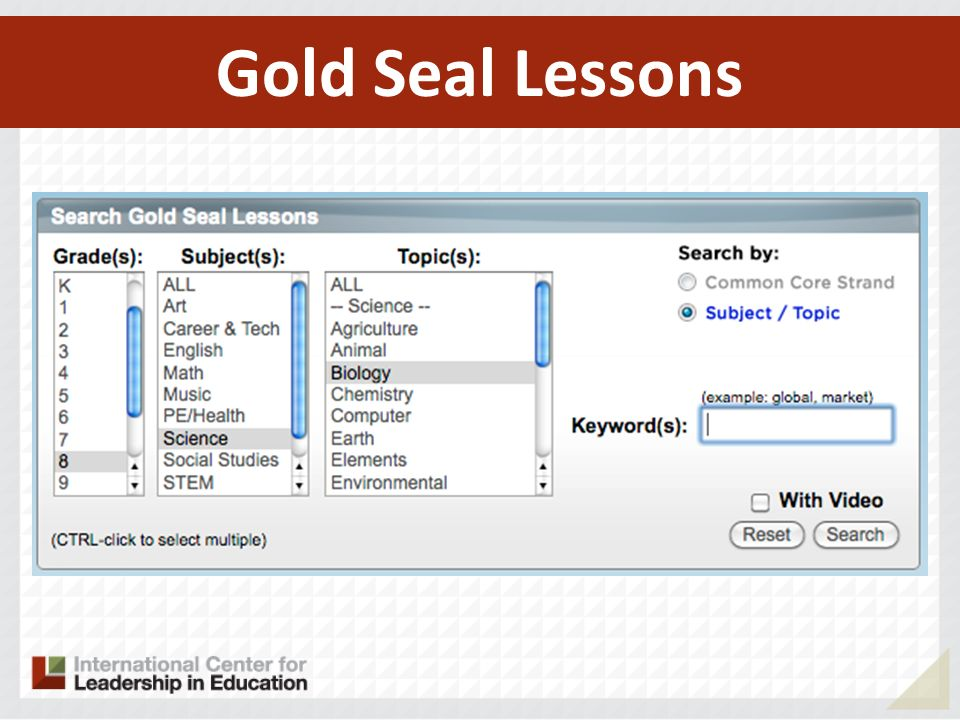 Gold Seal Lessons 105