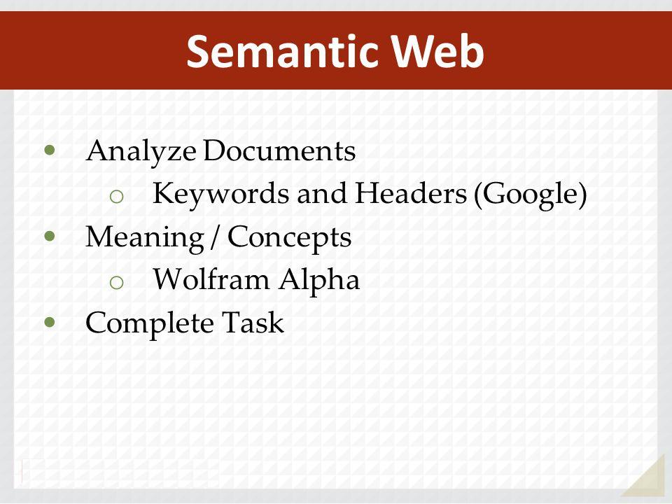 Semantic Web Analyze Documents Keywords and Headers (Google)