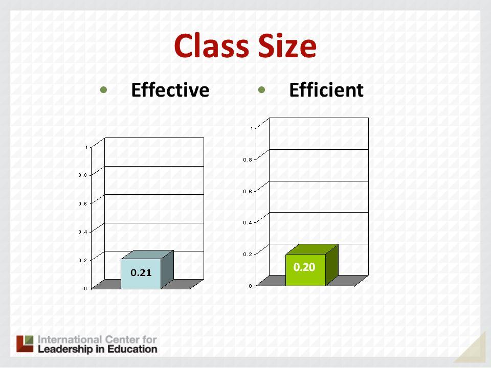 Class Size Effective Efficient