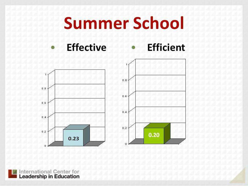 Summer School Effective Efficient