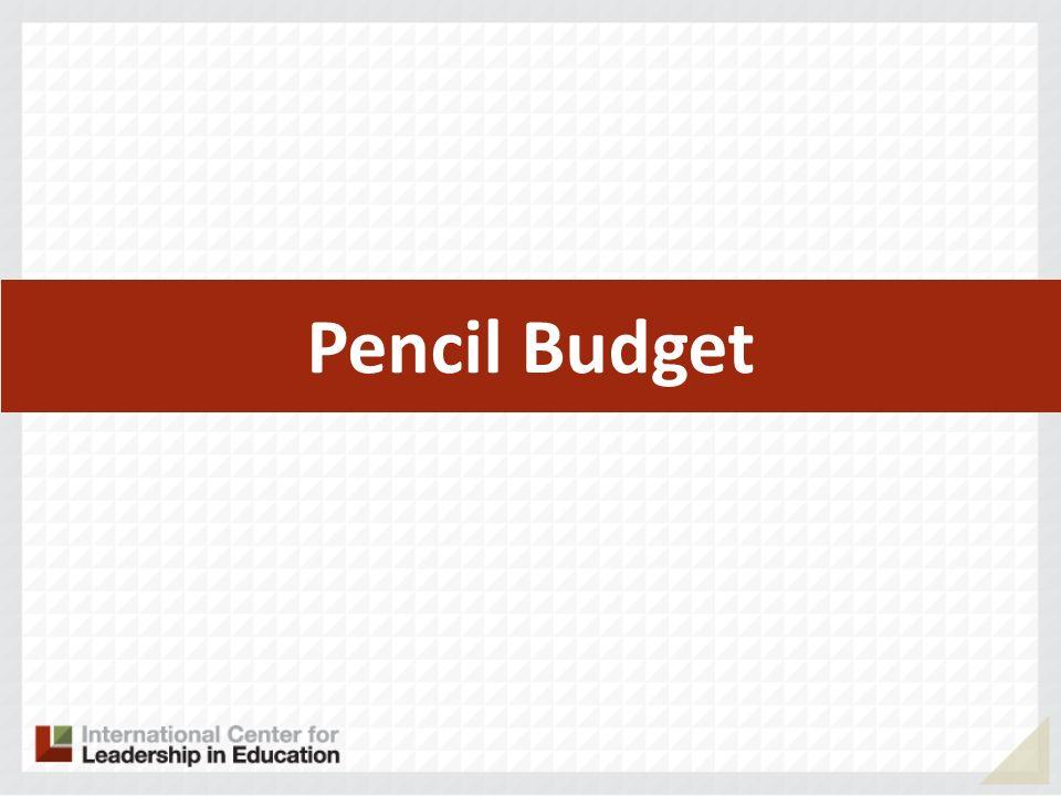 Pencil Budget