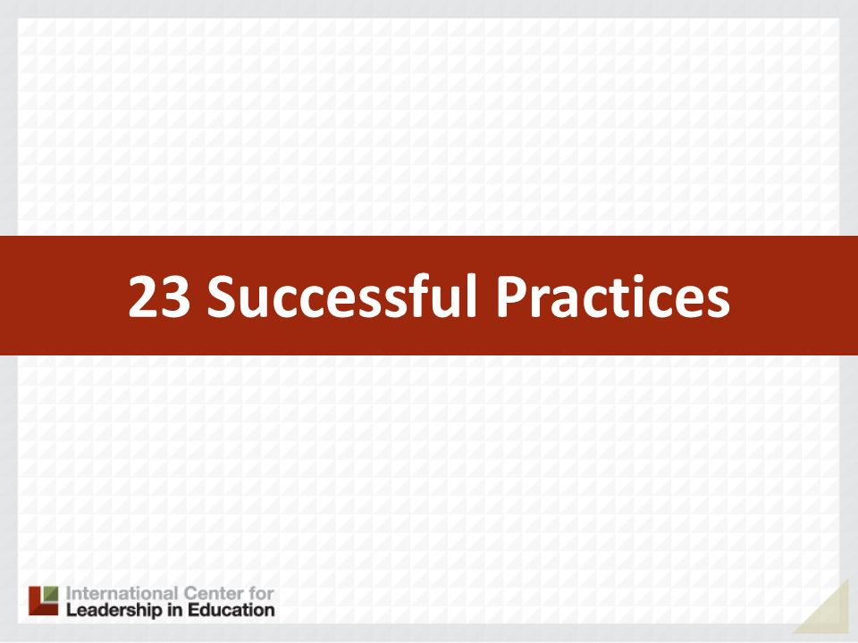 23 Successful Practices