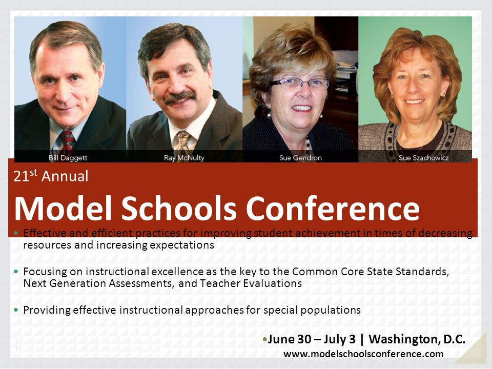 21st Annual Model Schools Conference