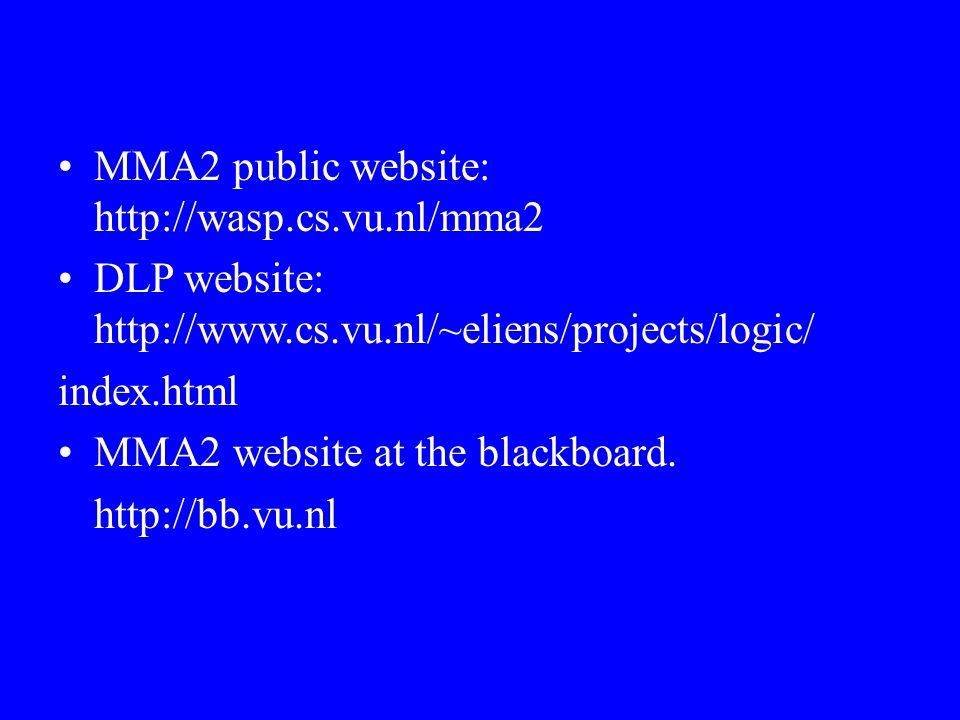 MMA2 public website: http://wasp.cs.vu.nl/mma2